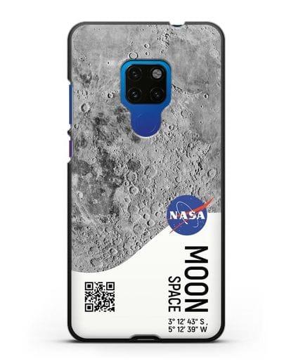 Чехол Луна с координатами силикон черный для Huawei Mate 20