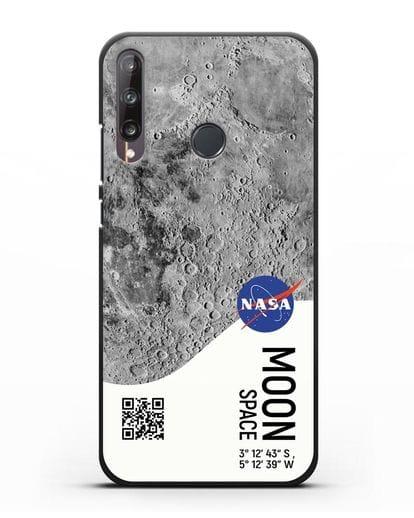 Чехол Луна с координатами силикон черный для Huawei P40 lite E