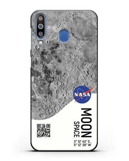 Чехол Луна с координатами силикон черный для Samsung Galaxy M30 [SM-M305F]