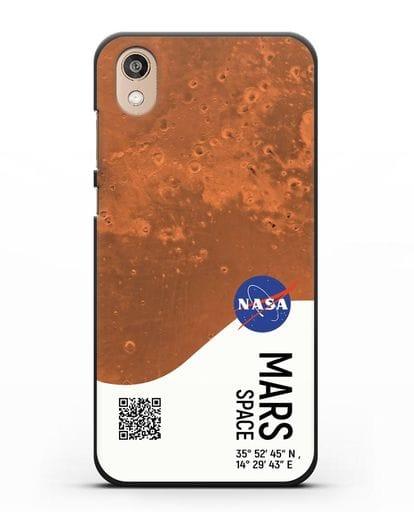 Чехол Марс с координатами силикон черный для Honor 8S