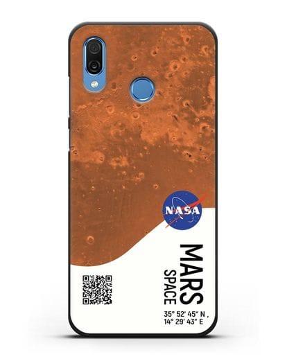 Чехол Марс с координатами силикон черный для Honor Play