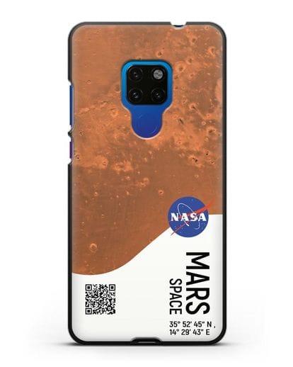 Чехол Марс с координатами силикон черный для Huawei Mate 20
