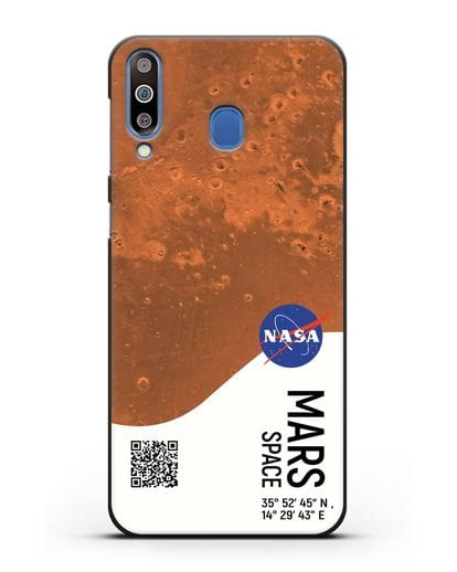 Чехол Марс с координатами силикон черный для Samsung Galaxy M30 [SM-M305F]