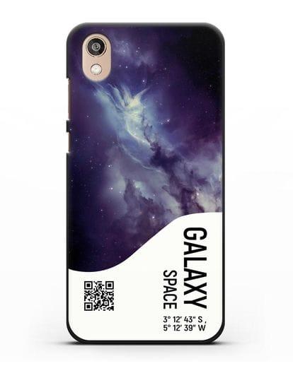 Чехол Галактика с координатами силикон черный для Honor 8S