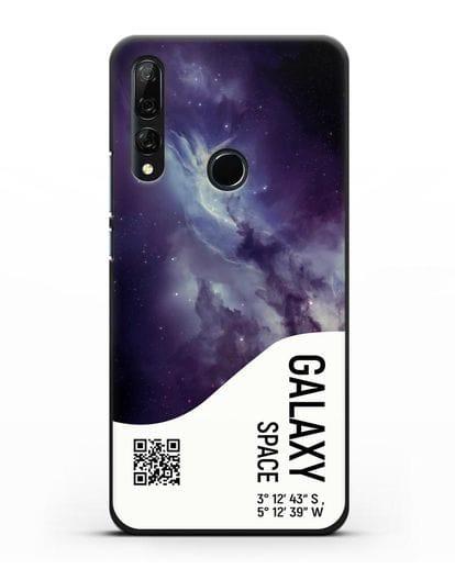 Чехол Галактика с координатами силикон черный для Honor 9X