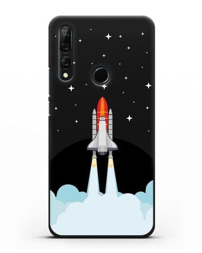 Чехол с иллюстрацией Спейс Шаттл силикон черный для Honor 9X