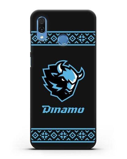 Чехол с логотипом ХК Динамо-Минск силикон черный для Honor Play