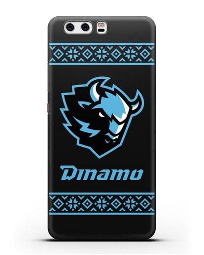 Чехол с логотипом ХК Динамо-Минск силикон черный для Huawei P10 Plus