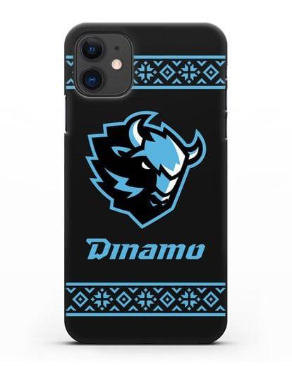 Чехол с логотипом ХК Динамо-Минск силикон черный для iPhone 11
