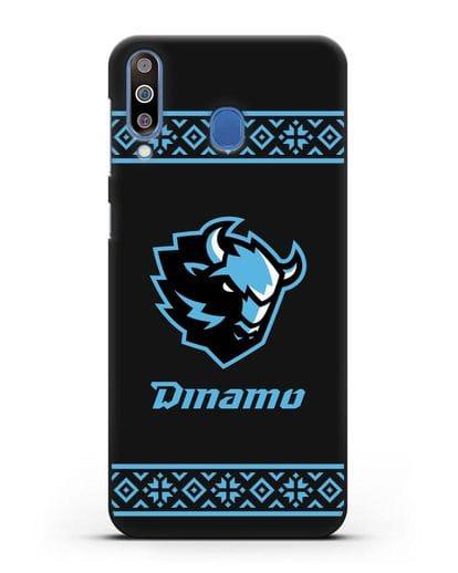 Чехол с логотипом ХК Динамо-Минск силикон черный для Samsung Galaxy M30 [SM-M305F]