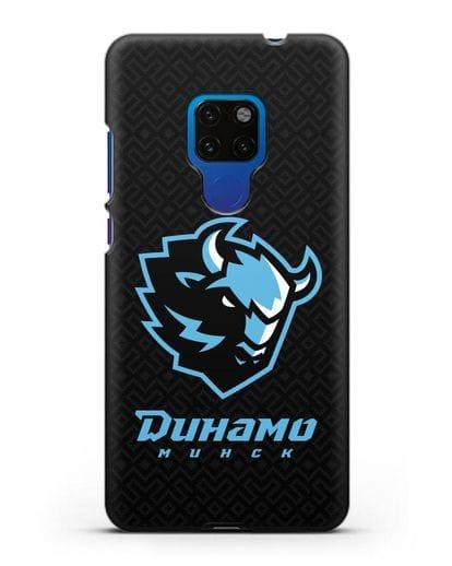 Чехол ХК Динамо-Минск с белорусским орнаментом силикон черный для Huawei Mate 20