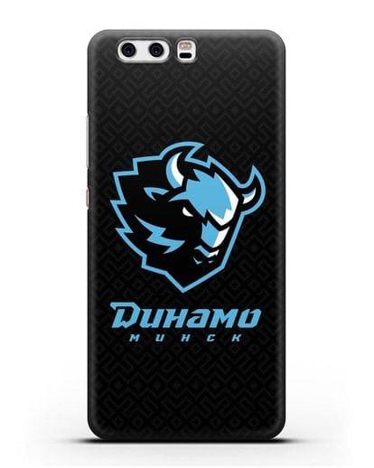 Чехол ХК Динамо-Минск с белорусским орнаментом силикон черный для Huawei P10 Plus