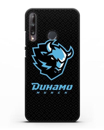 Чехол ХК Динамо-Минск с белорусским орнаментом силикон черный для Huawei P40 lite E