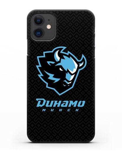 Чехол ХК Динамо-Минск с белорусским орнаментом силикон черный для iPhone 11