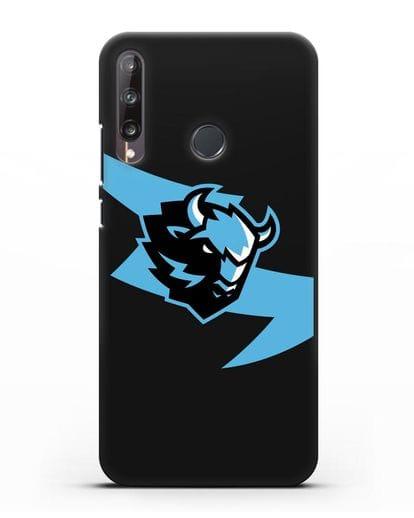 Чехол с символикой ХК Динамо-Минск силикон черный для Huawei P40 lite E