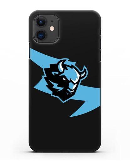 Чехол с символикой ХК Динамо-Минск силикон черный для iPhone 11