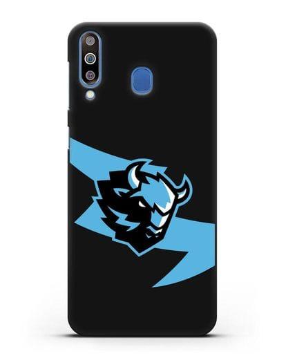 Чехол с символикой ХК Динамо-Минск силикон черный для Samsung Galaxy M30 [SM-M305F]