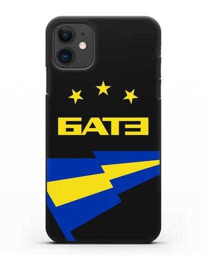 Чехол с символикой ФК БАТЭ силикон черный для iPhone 11