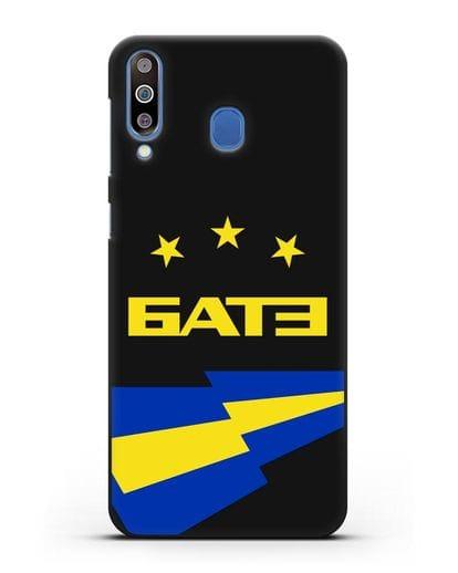 Чехол с символикой ФК БАТЭ силикон черный для Samsung Galaxy M30 [SM-M305F]
