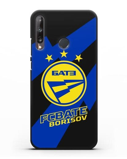 Чехол с логотипом ФК БАТЭ силикон черный для Huawei P40 lite E