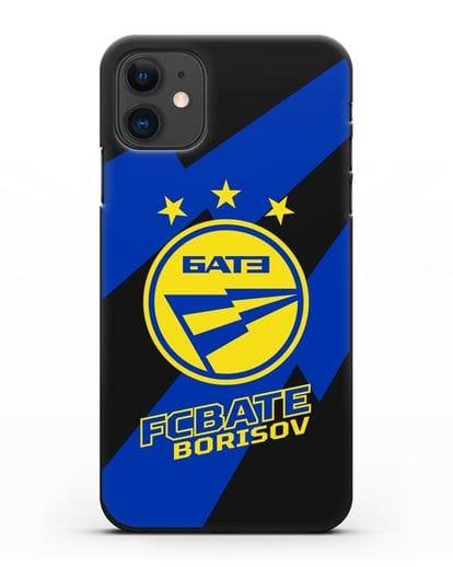 Чехол с логотипом ФК БАТЭ силикон черный для iPhone 11