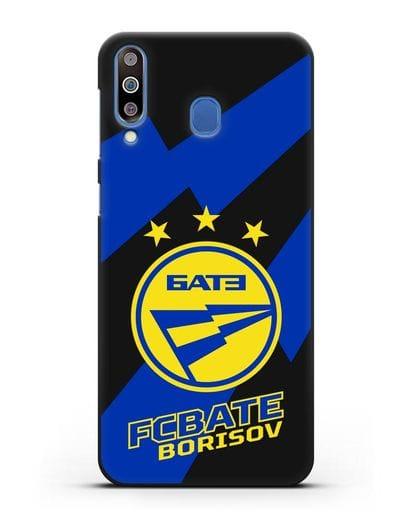 Чехол с логотипом ФК БАТЭ силикон черный для Samsung Galaxy M30 [SM-M305F]