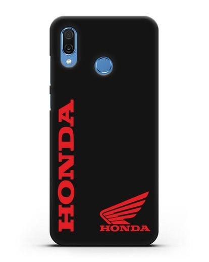 Чехол с логотипом Honda Motorcycles силикон черный для Honor Play