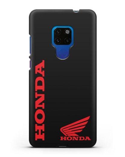 Чехол с логотипом Honda Motorcycles силикон черный для Huawei Mate 20