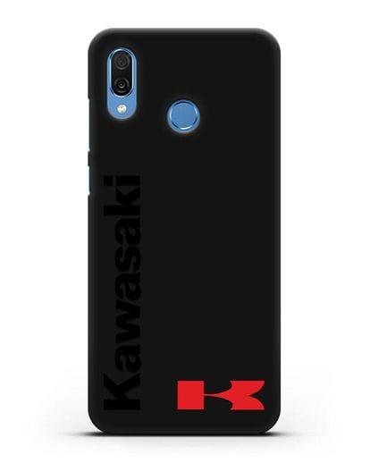 Чехол с надписью Kawasaki и логотипом силикон черный для Honor Play