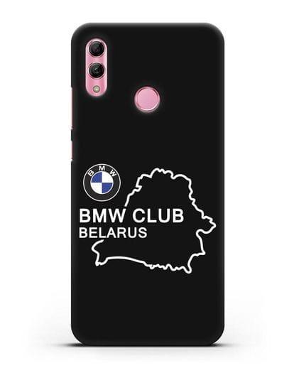 Чехол BMW Club Belarus силикон черный для Honor 10 Lite