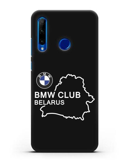 Чехол BMW Club Belarus силикон черный для Honor 10i