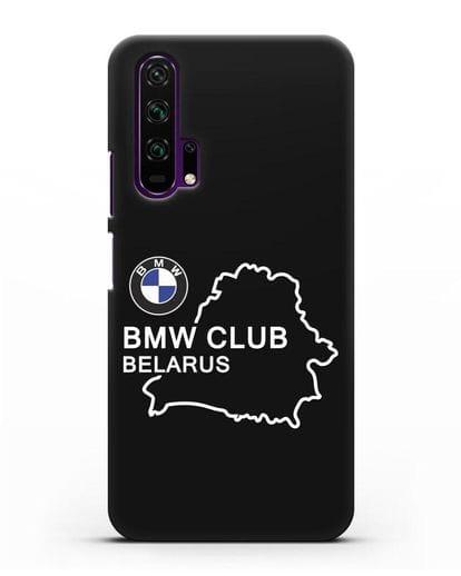 Чехол BMW Club Belarus силикон черный для Honor 20 Pro