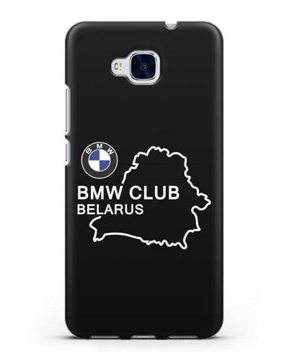 Чехол BMW Club Belarus силикон черный для Honor 5C