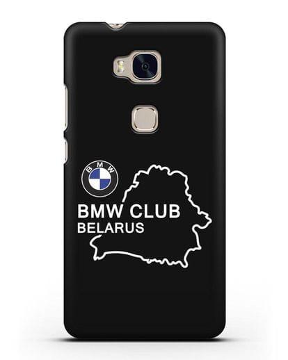 Чехол BMW Club Belarus силикон черный для Honor 5X