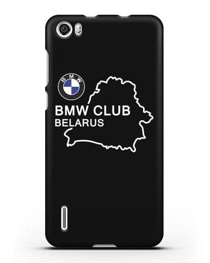 Чехол BMW Club Belarus силикон черный для Honor 6
