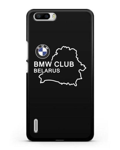 Чехол BMW Club Belarus силикон черный для Honor 6 Plus