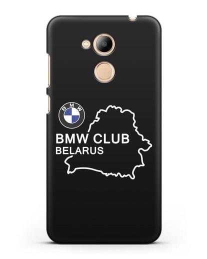 Чехол BMW Club Belarus силикон черный для Honor 6C Pro