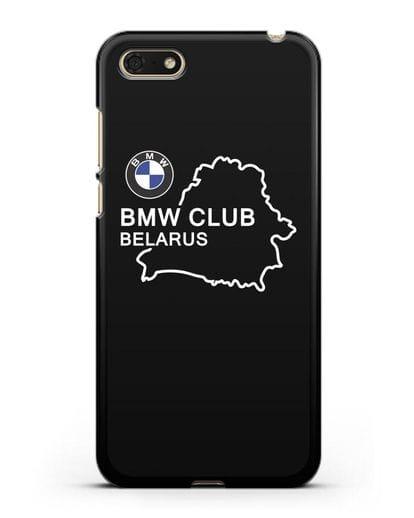Чехол BMW Club Belarus силикон черный для Honor 7А