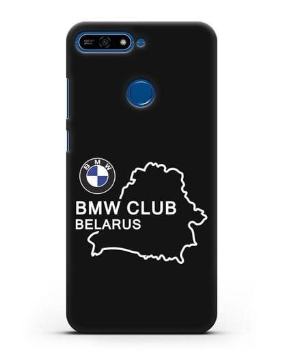 Чехол BMW Club Belarus силикон черный для Honor 7А Pro