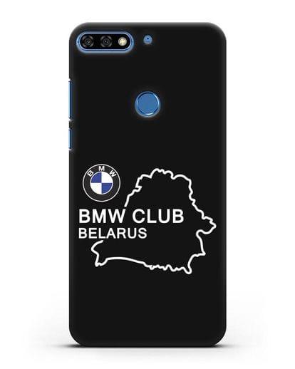 Чехол BMW Club Belarus силикон черный для Honor 7C Pro