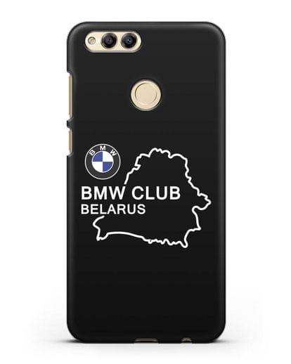 Чехол BMW Club Belarus силикон черный для Honor 7X
