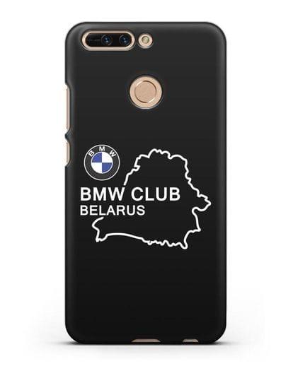 Чехол BMW Club Belarus силикон черный для Honor 8 Pro