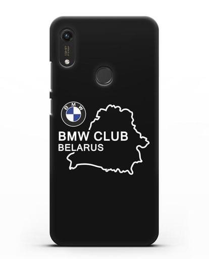 Чехол BMW Club Belarus силикон черный для Honor 8A Prime