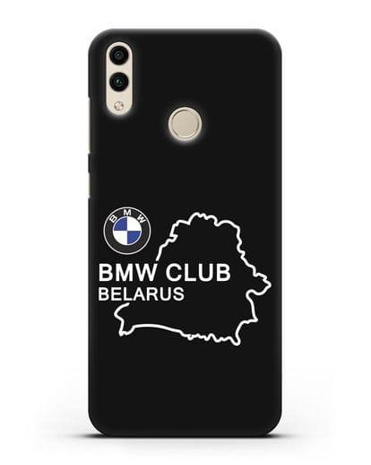 Чехол BMW Club Belarus силикон черный для Honor 8C