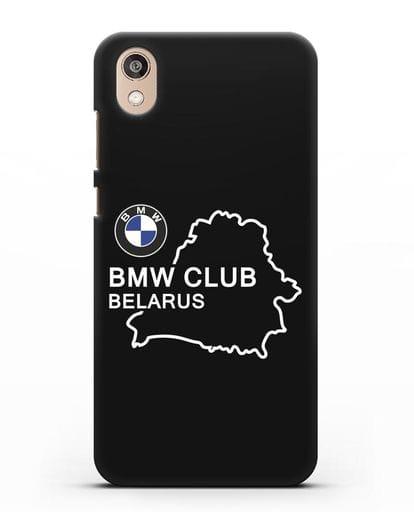Чехол BMW Club Belarus силикон черный для Honor 8S