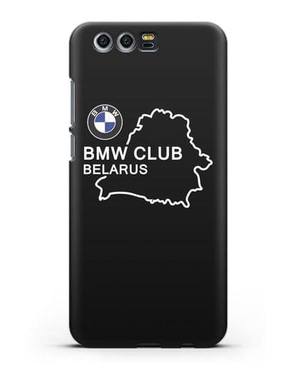 Чехол BMW Club Belarus силикон черный для Honor 9