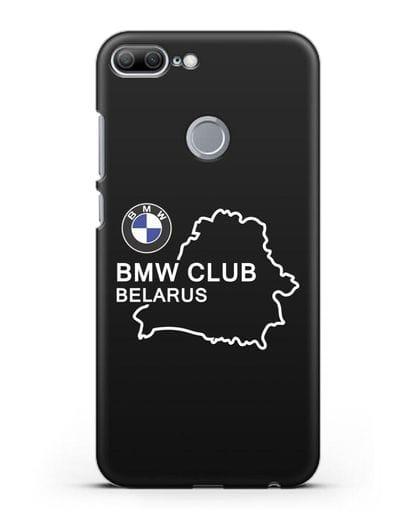Чехол BMW Club Belarus силикон черный для Honor 9 Lite