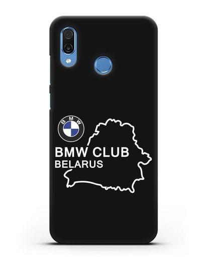 Чехол BMW Club Belarus силикон черный для Honor Play