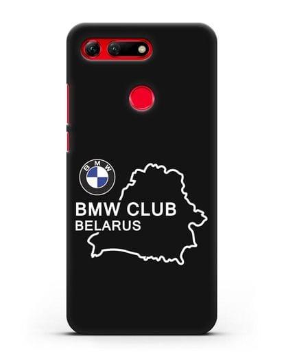 Чехол BMW Club Belarus силикон черный для Honor View 20