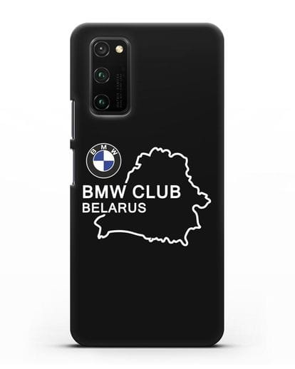 Чехол BMW Club Belarus силикон черный для Honor View 30 Pro